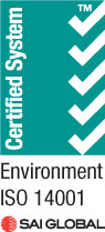 Environment ISO accredited